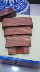 缅甸花梨4件套底座,一整块木料雕刻而成【鱼002号】多次打磨,光滑漂亮