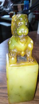 寿山石狮子老印章