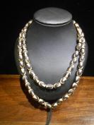 双虎牙天珠玛瑙链珠,项链,橘皮纹,70颗珠子,直径0.8CM,长1.2CM,低价出包邮