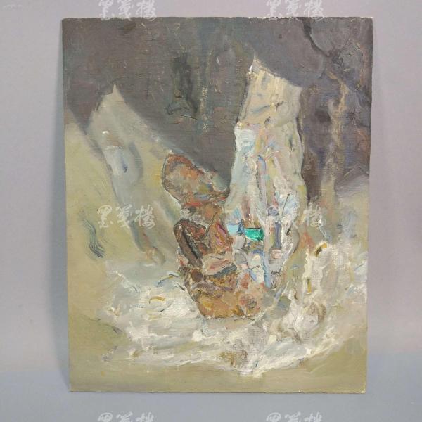 著名油画家、航天英雄奖章设计者 孔平油画作品 一幅(尺寸35*28cm,未署款)HXTX312694