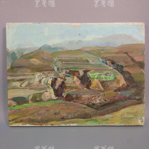 著名油画家、航天英雄奖章设计者 孔平油画作品《春色》 一幅带框(尺寸31*41cm,未署款)HXTX312686
