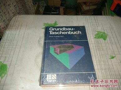 Grundbau-Taschenbuch vierte auflage teil 1