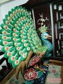 广东石湾陶艺大师精艺手制作品一《屏开富贵》附有收藏证书。