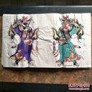 山东曹州木版年画-五色套印《门神》