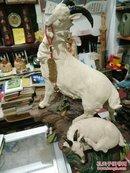 石湾陶艺:手制原作限量版:《领头羊》广东省陶瓷工艺美术大师梁润枝的精美力作。