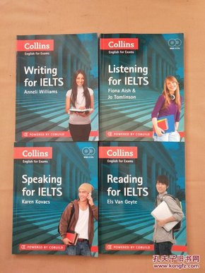 Collins English for Exams:Speaking for Ielts、Reading for IELTS、Listening for Ielts、Writing for IELTS(英文原版 4本合售)2本有4张光盘