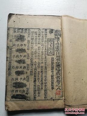 木刻,陳子性藏書卷之八,木刻大本。風水書