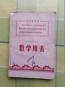 河北省中学试用   数学用表
