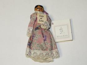 传统英国手工艺品—复古薰衣草针线包人偶(MOLE END)