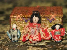 绝无仅有的珍品—纯手工制造豆人形3件套(完全原装)
