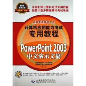 PowerPoint 2003中文演示文稿全国专业技术人员计算机应用能力  命题研究组北京希望电子出版社9787830020699小说