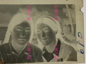 老照片底片 约50年代 美女 6张合售 有军人
