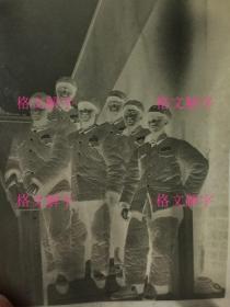 老照片底片 约50年代 军人合影