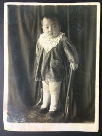 民国老照片 儿童 民国三十二年 摄于 塔城  新疆 2张