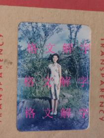老照片 非常罕见的柯达早期彩色胶片 大概五十年代前后 旗袍 美女 很漂亮