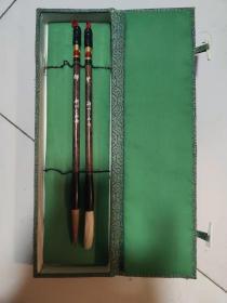 湖州三益笔斋80年代毛笔一盒两只