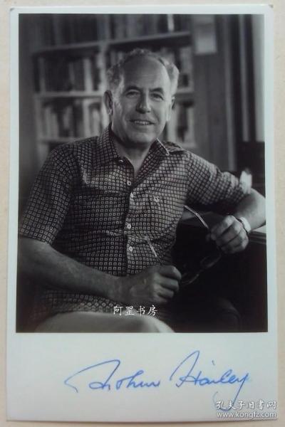 著名小说家亚瑟·黑利Arthur Hailey签名老照片原版银盐老照片保真
