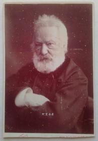雨果肖像照1878年橱柜照片法国著名摄影家纳达尔名作肖像照大师珍贵蛋白老照片