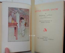 《小雪娘》1909年私人订制皮装本彩色插图本美国女作家Fannie Caldwell童话作品