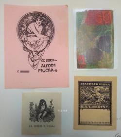 欧洲木版画线刻版藏书票4张合售50组