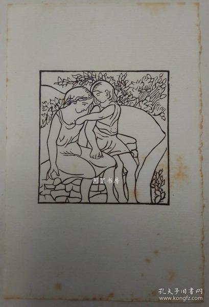 法国艺术家马约尔Maillol木刻原作《《达夫尼斯与克娄伊》木版画插图B