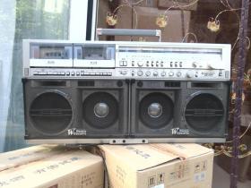 SHARP夏普GF777收录机双卡带磁带四喇叭收音录音机 收音机录音机已试过,播放正常,音响效果非常好。详见书影。
