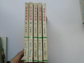 谁是大英雄 共五册 全(32开平装5本,原版正版老书。馆藏,详见书影)放在地下室武侠类处