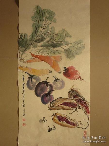 传统水墨画未装裱字画收藏捡漏