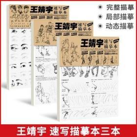 王靖宇速写描摹本局部+动态+完整2021敲门砖人物初学入门