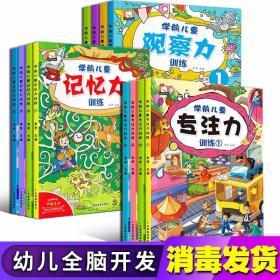 儿童学前记忆力观察力专注力思维训练书 全套12册 宝宝连线数字迷