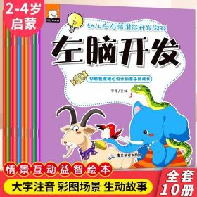 宝宝左右脑开发5-6岁 全套10册 幼儿启蒙早教全脑智力潜能逻辑思?