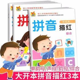 幼儿拼音描红本 全套3册 幼小衔接天天一日一练 儿童初学者入学准