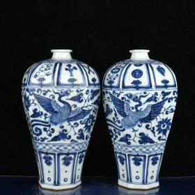 元青花鳳穿花紋八棱梅瓶 高28.5厘米 直徑17厘米