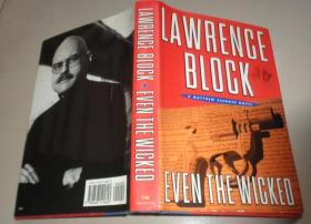 外文版古旧书 (LAWRENCE BLOCK EVEN THE WICKED):B3架顶