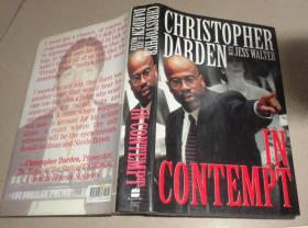 英文原版书 CHRISTOPHER DABDEN WITH JESS WALTER IN CONTEMPT 详细书名请看图 精装本:B4架顶