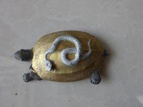 少见龟蛇墨(龟蛇延寿)老墨锭 老墨块