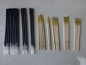 鼠须狼毫大中小(工笔,小楷,抄经,油画等勾线笔)毛笔8个品种34枝合让.........准备上架商品