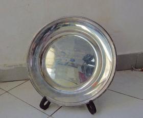 法国顶级奢侈品银器品牌Christofle(昆庭)珍品纪念大银盘<重量约:1238克>【保真】