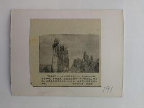 伟大的祖国剪报贴片191云南路南石林(阿斯玛石林奇景之一)