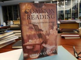 Common Reading. Critics, Historians, Publics