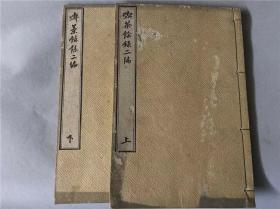 和刻本《吃茶余录》(二编)2册全,日本香实先生著,有茶器图。