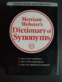 Merriam Webster\s Dictionary of Synonyms(韦氏同义词词典)【精装带书衣16开,英文原版,品佳】