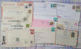 实寄封 含香港和外国寄大陆寄国内 共14枚合售