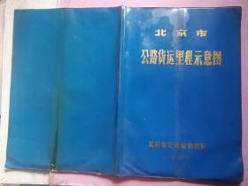 北京市公路货运里程示意图 1980