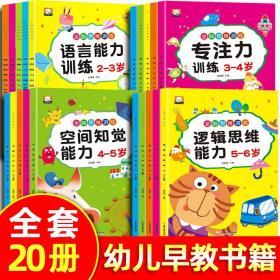正版全新全套20册幼儿园早教 全脑思维训练游戏书籍 儿童逻辑思维训练左右脑开发益智早教书2-3-4-5-6岁语言空间想象力专注力训练幼儿用书