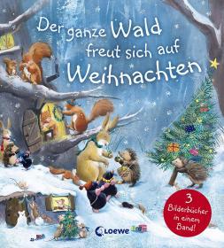 预订 Der ganze Wald freut sich auf Weihnachten 森林里的圣诞节,彩色插图版,德文原版