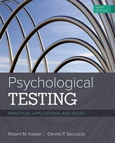 Psychological Testing: Principles, Applications, and Issues心理学测试:理论,应用与问题,第9版,英文原版