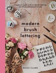 预订 Modern Brush Lettering 笔刷字体,英文原版