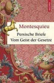 预订 Persische Briefe. Vom Geist der Gesetze 波斯人信札&论法的精神,孟德斯鸠作品,德文原版