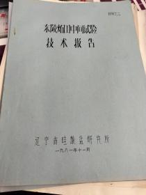 东陵石器中间试验技术报告